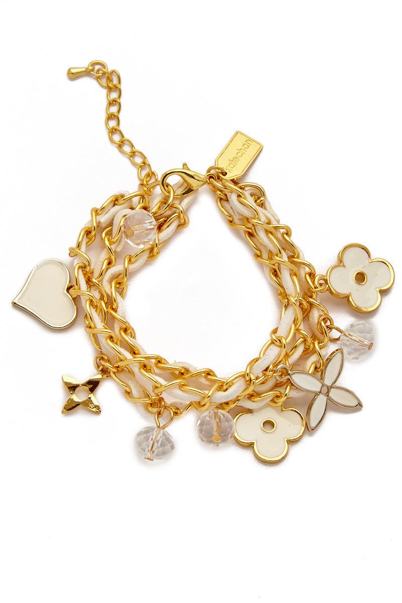 KATE CHAN Lulu Bracelet - White & Gold Jewelry | White| Kate Chan Lulu Bracelet White & Gold
