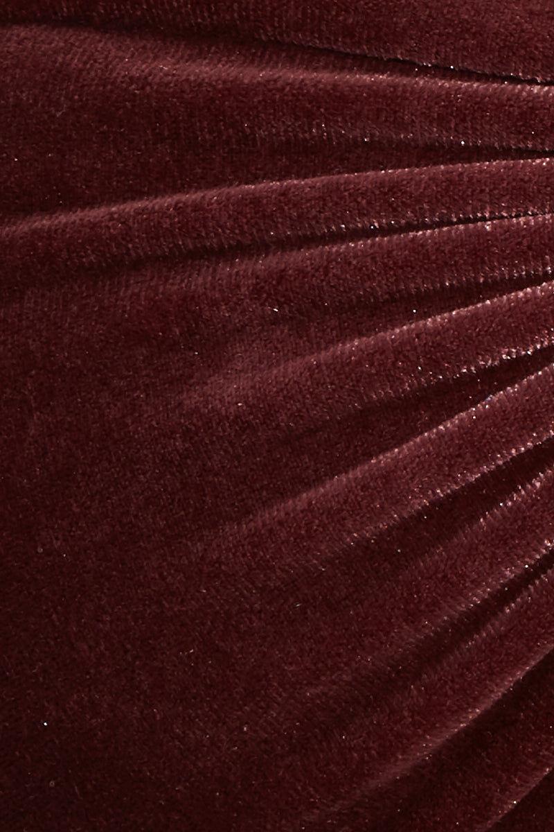 DBRIE Lili Top Bikini Top | Plum| Dbrie Lili Bikini Top convertible multiway wrap bikini top in reversible waterproof velvet fabric