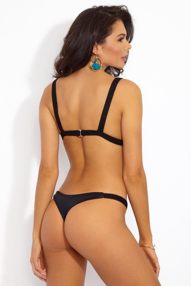 DBRIE Dani Bottom Bikini Bottom | Obsidian| Dani Bikini Bottom