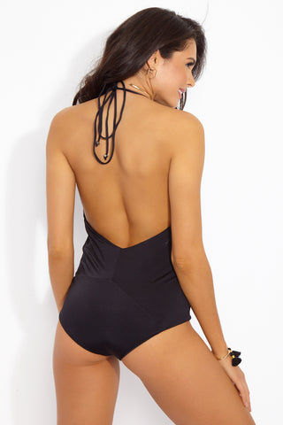 INDAH Verushka One Piece - Black One Piece | Black| Indah Verushka One Piece