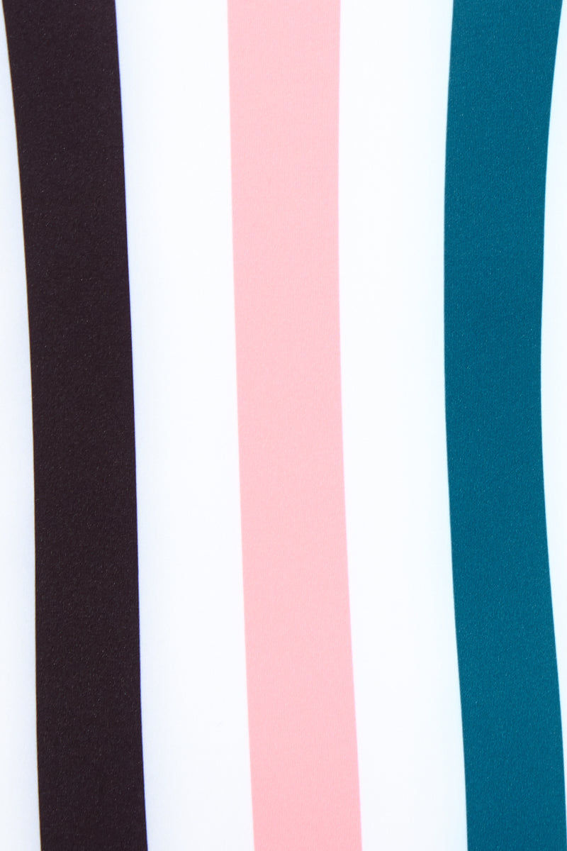 SOLID & STRIPED The Chelsea One Piece Swimsuit - Black/Jade/Coral Stripe One Piece | Black/Jade/Coral Stripe|The Chelsea One Piece Swimsuit