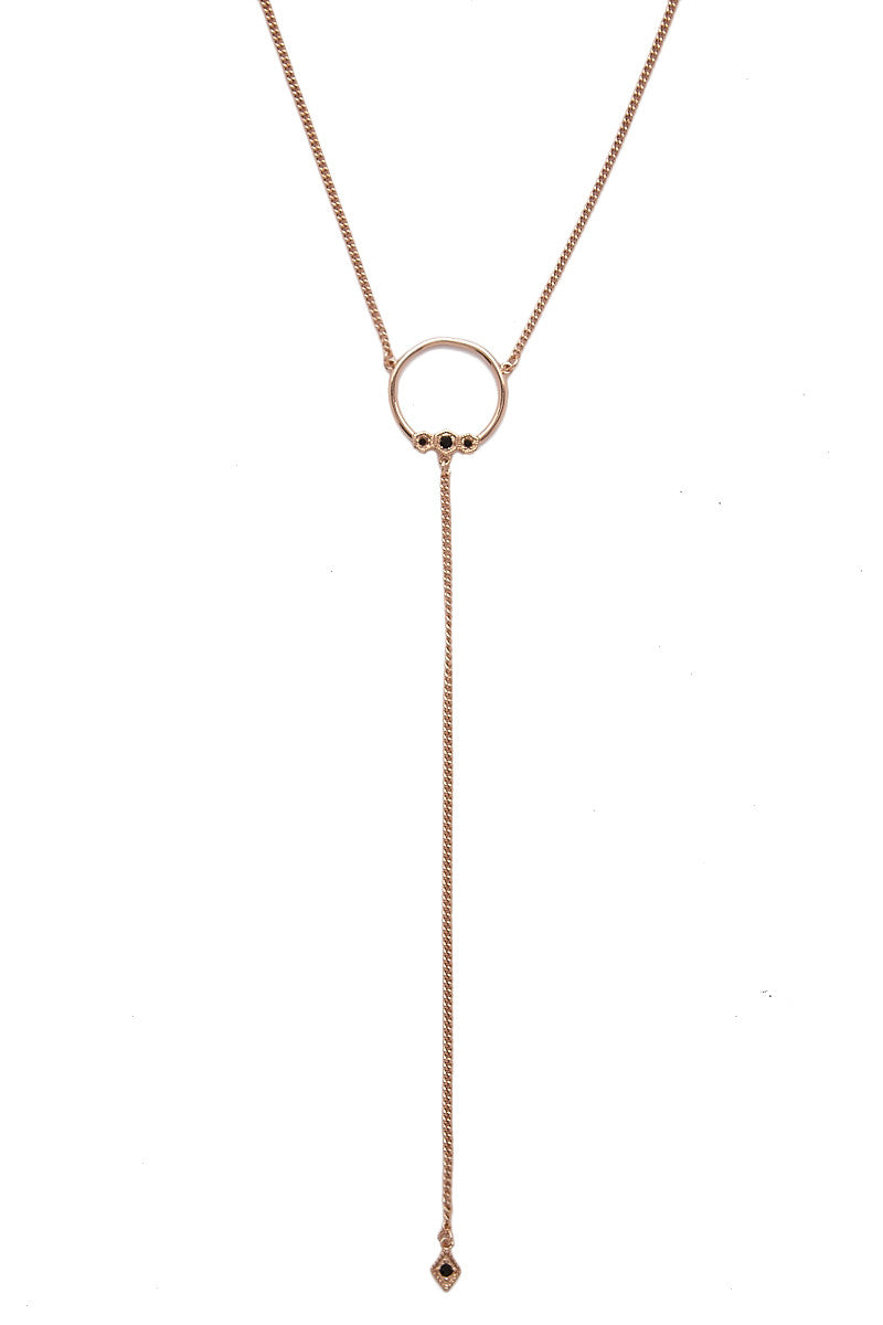 LUV AJ The Full Bloom Lariat Necklace - Rose Gold Jewelry | Rose Gold| LUV AJ Full Bloom Lariat