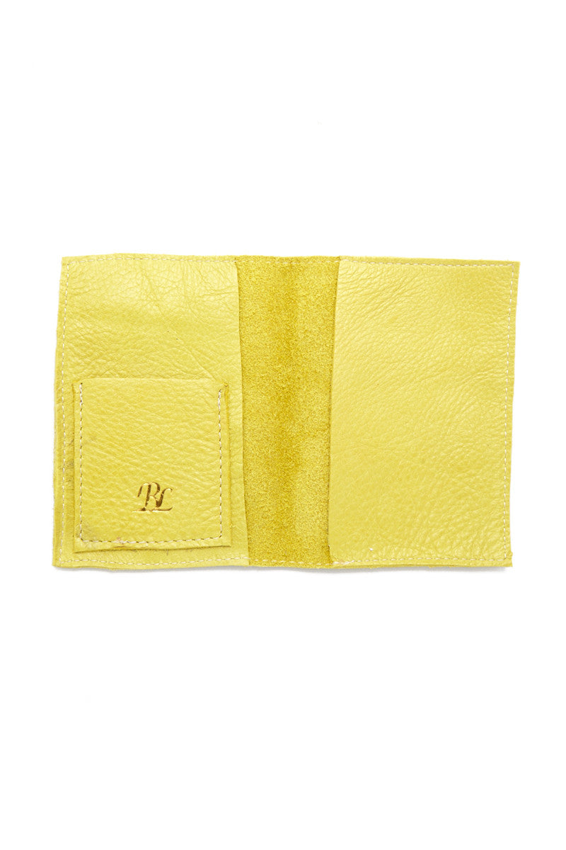 BLYTHE LEONARD Chartreuse Passport Cover - Chartreuse/Gold Accessories | Chartreuse/Gold| Blythe Leonard Chartreuse Passport Cover