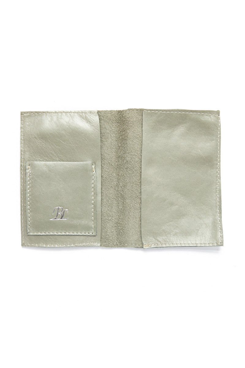 BLYTHE LEONARD Pearl Green Passport Cover - Silver Accessories | Silver| Blythe Leonard Pearl Green Passport Cover