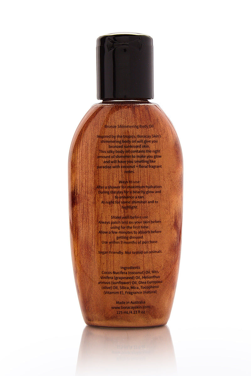 BORACAY SKIN Bronze Shimmering Body Oil Beauty | Bronze Shimmering Body Oil