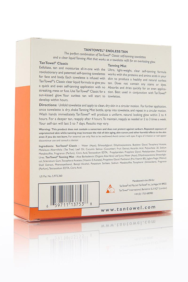 TAN TOWEL Endless Tan Classic Kit Beauty | Tan Towel Endless Tan Classic Kit back view