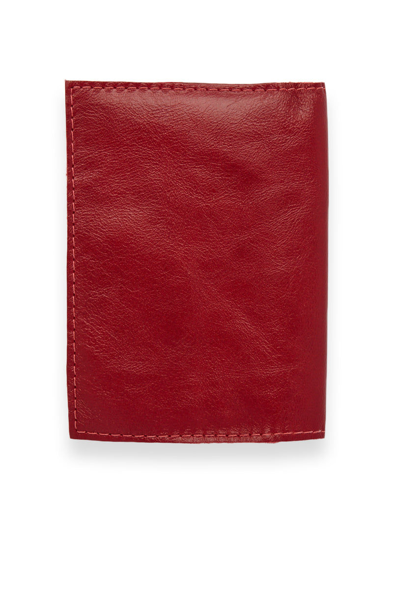 BLYTHE LEONARD Red Passport Cover - Red/Gold Accessories | Red/Gold| Blythe Leonard Red Passport Cover