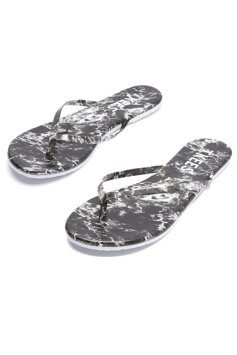 TKEES Marble Sandals Sandals | Black Pepper| Tkees Marble Sandals