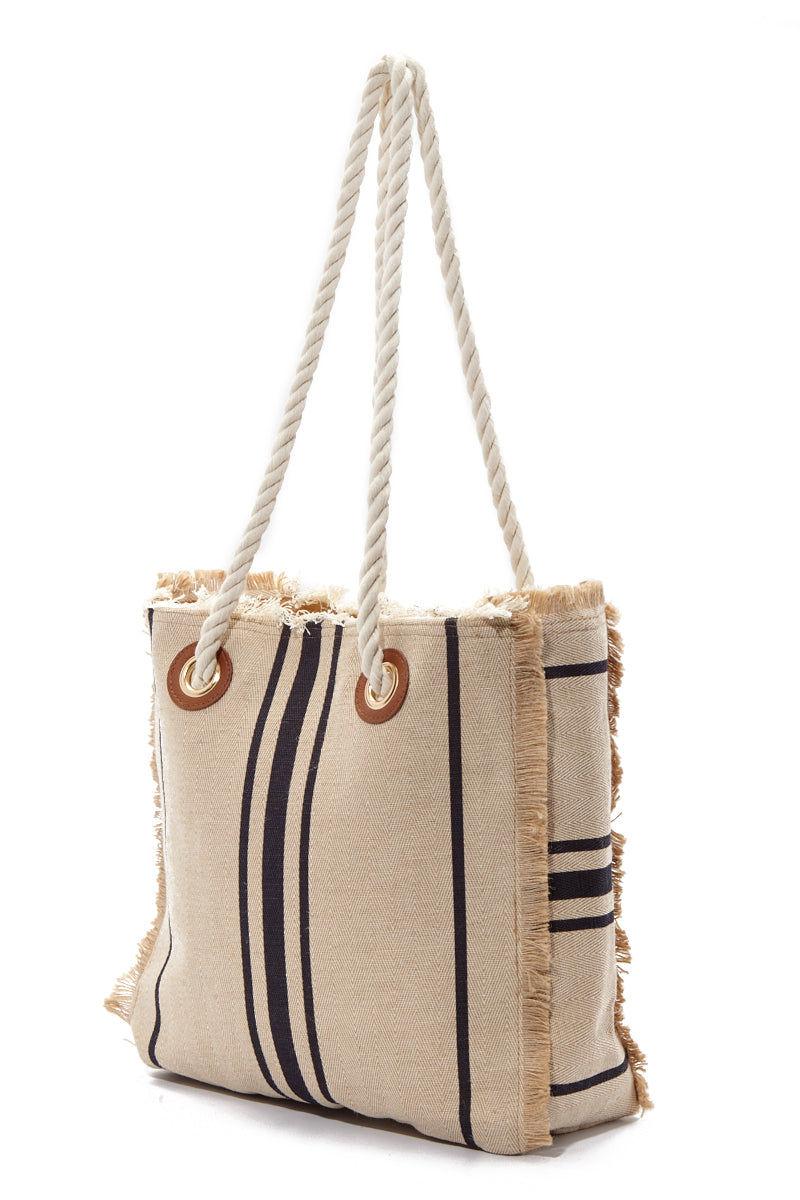 PIA ROSSINI Zadar Bag Bag | Natural/Navy| Pia Rossini Zadar Bag