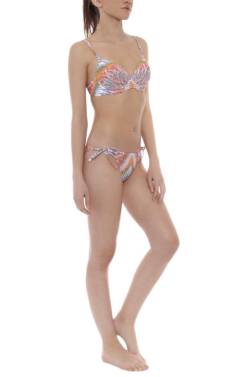 RAISINS Stringer Cheeky Tie Side Bikini Bottom - Sunshine Print Bikini Bottom | Sunshine Print| Raisins Cheeky Stringer Bikini Bottom