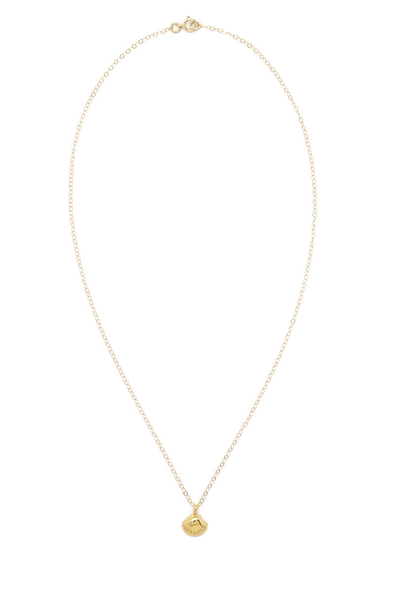 TATIANA KATZOFF Tiny Seashell Necklace Jewelry | Gold| Tatiana Katzoff tiny seashell necklace
