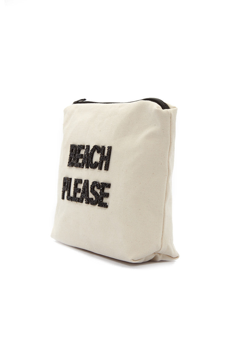 FALLON AND ROYCE Beach Please Large Pouch Bag | Beach Please Large Pouch