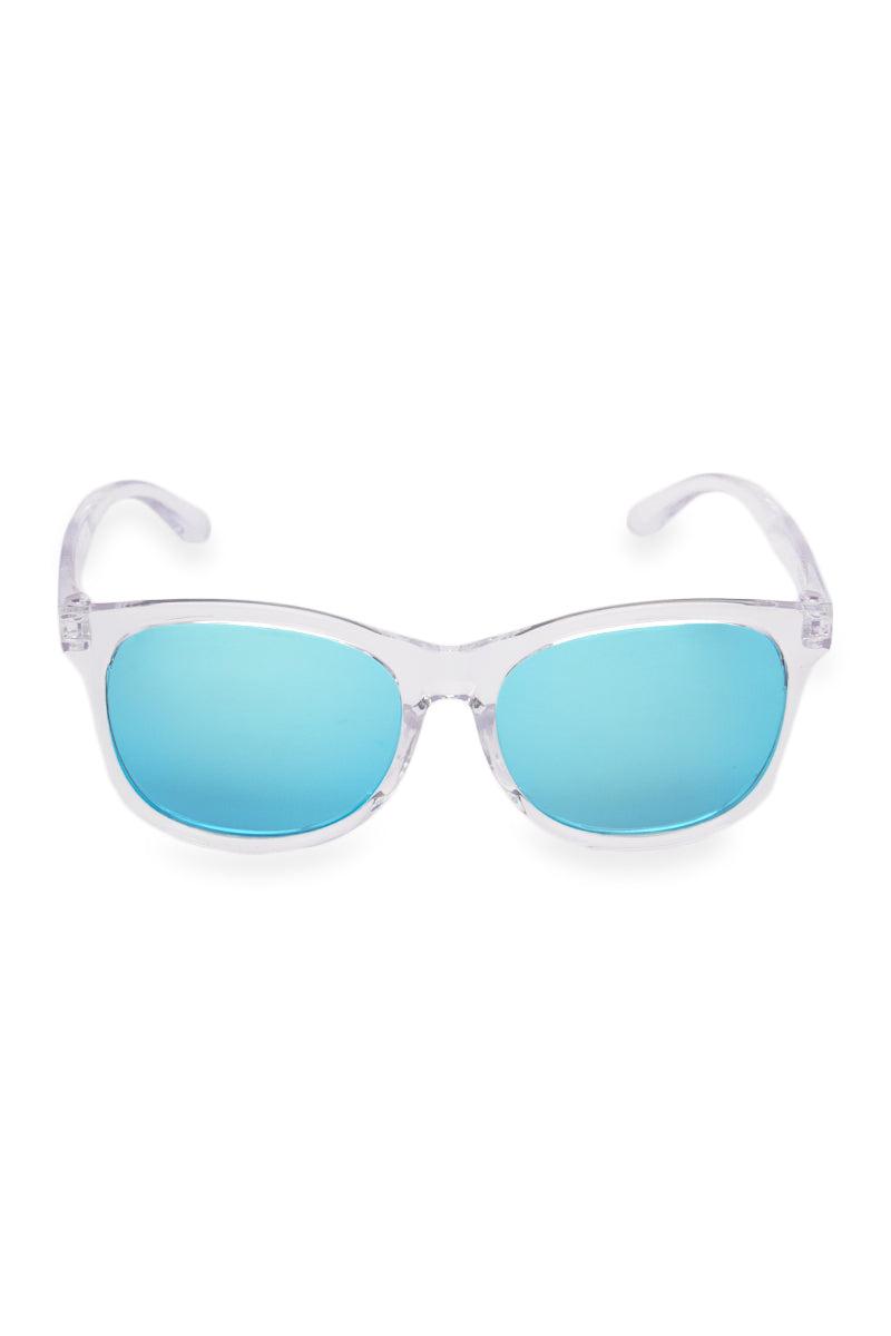 MARSQUEST INC. Momentum Sunglasses Sunglasses | Crystal/Neon Blue| Marsquest Inc. Momentum Sunglasses
