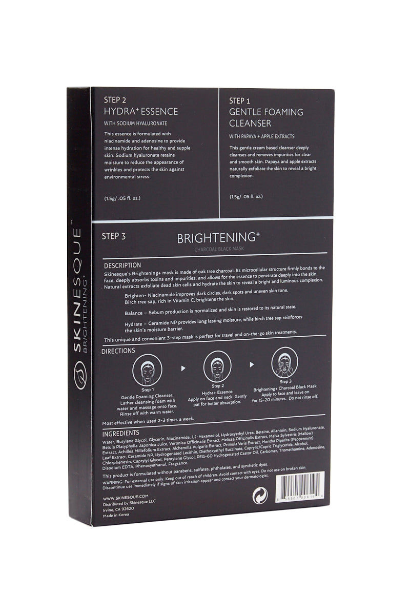 SKINESQUE 3-Step Brightening Charcoal Mask Beauty | 3-Step Brightening Charcoal Mask