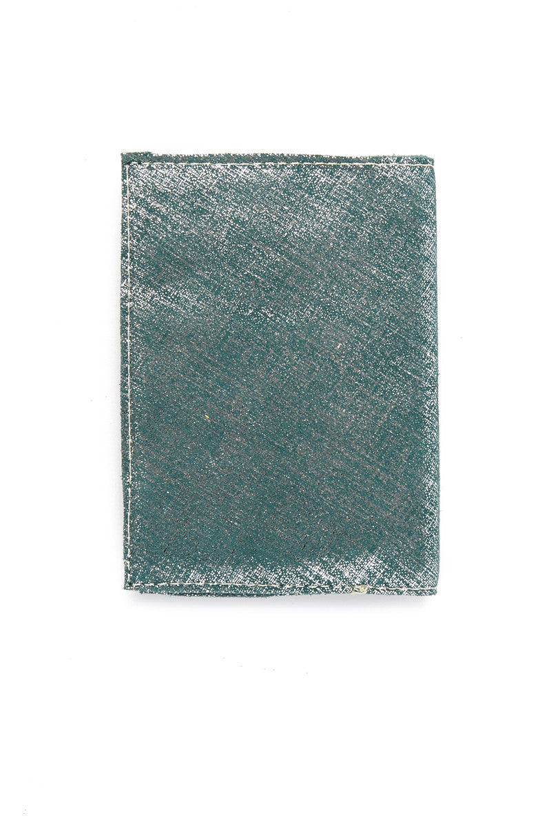 BLYTHE LEONARD Metallic Blue Passport Cover Accessories | Metallic Blue| Metallic Blue Passport Cover