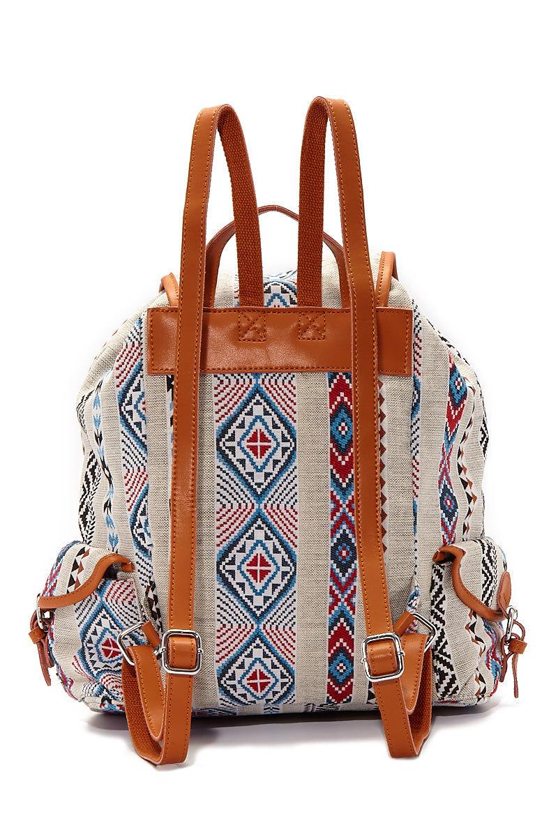 BEACH GYPSY'S Large Bohemian Jacquard Backpack - Serape Bag | Serape| Beach Gypsy's Bohemian Backpack