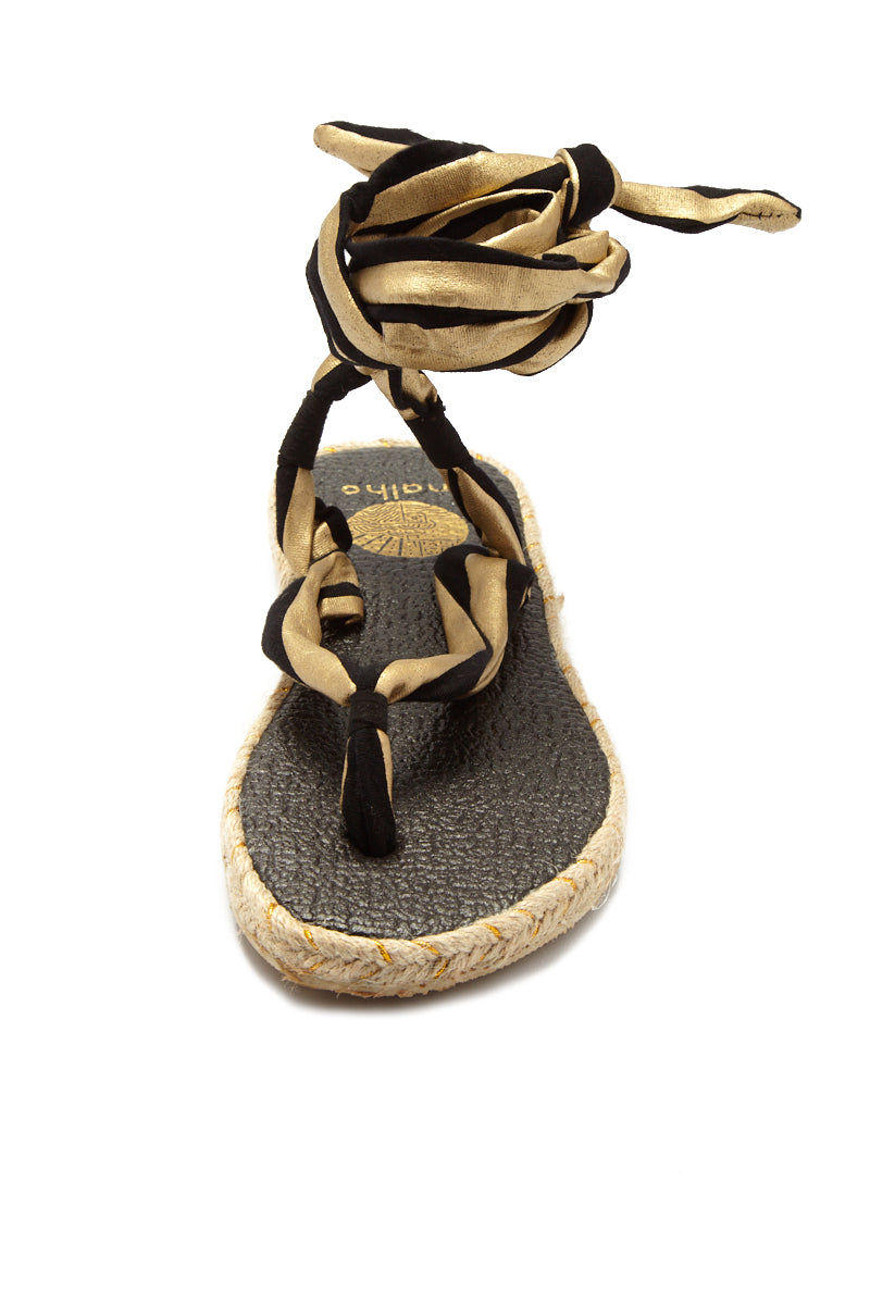 NALHO Karabi Metalic Sandals Sandals | Gold/ Black| Nalho Karabi Metalic Sandals