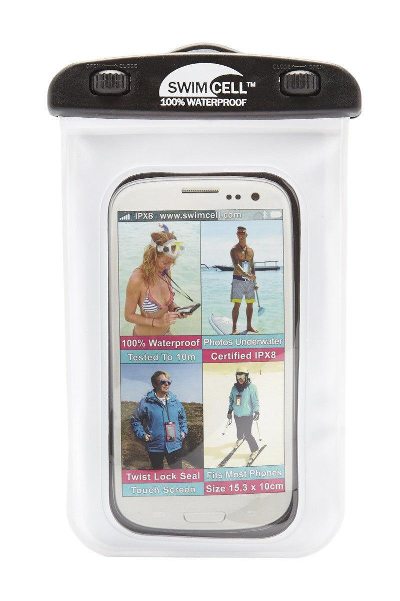 SWIMCELL Standard Waterproof Phone Case Phone Accessories | White| Swimcell Standard Waterproof Phone Case