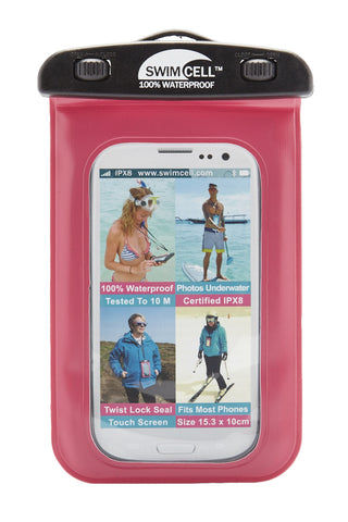 SWIMCELL Standard Waterproof Phone Case Phone Accessories | Pink| Swimcell Standard Waterproof Phone Case