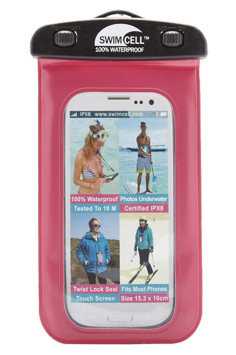 SWIMCELL Large Waterproof Phone Case Phone Accessories | Pink| Swimcell Large Waterproof Phone Case