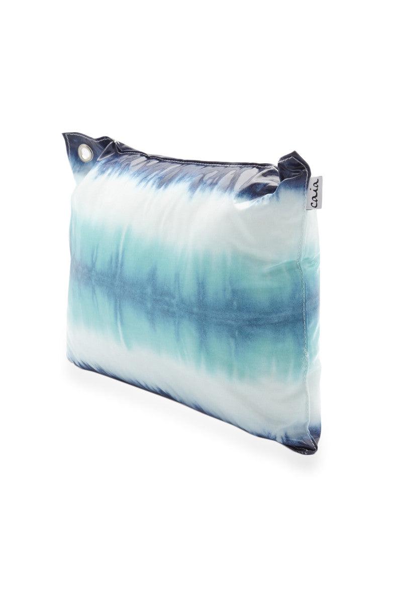 CAIA BEACH PILLOWS Zanzibar Waterproof Beach Pillow - Blue Print Pillow   Blue Print  Caia Beach Pillows Zanzibar Waterproof Beach Pillow - Blue Print