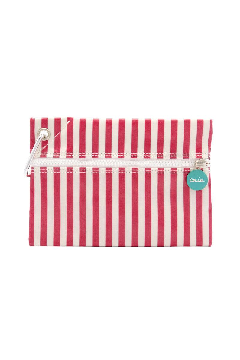 CAIA BEACH PILLOWS Candy Waterproof Clutch - Pink Stripe Bag | Pink Stripe| Caia Candy Waterproof Clutch - Pink Stripe