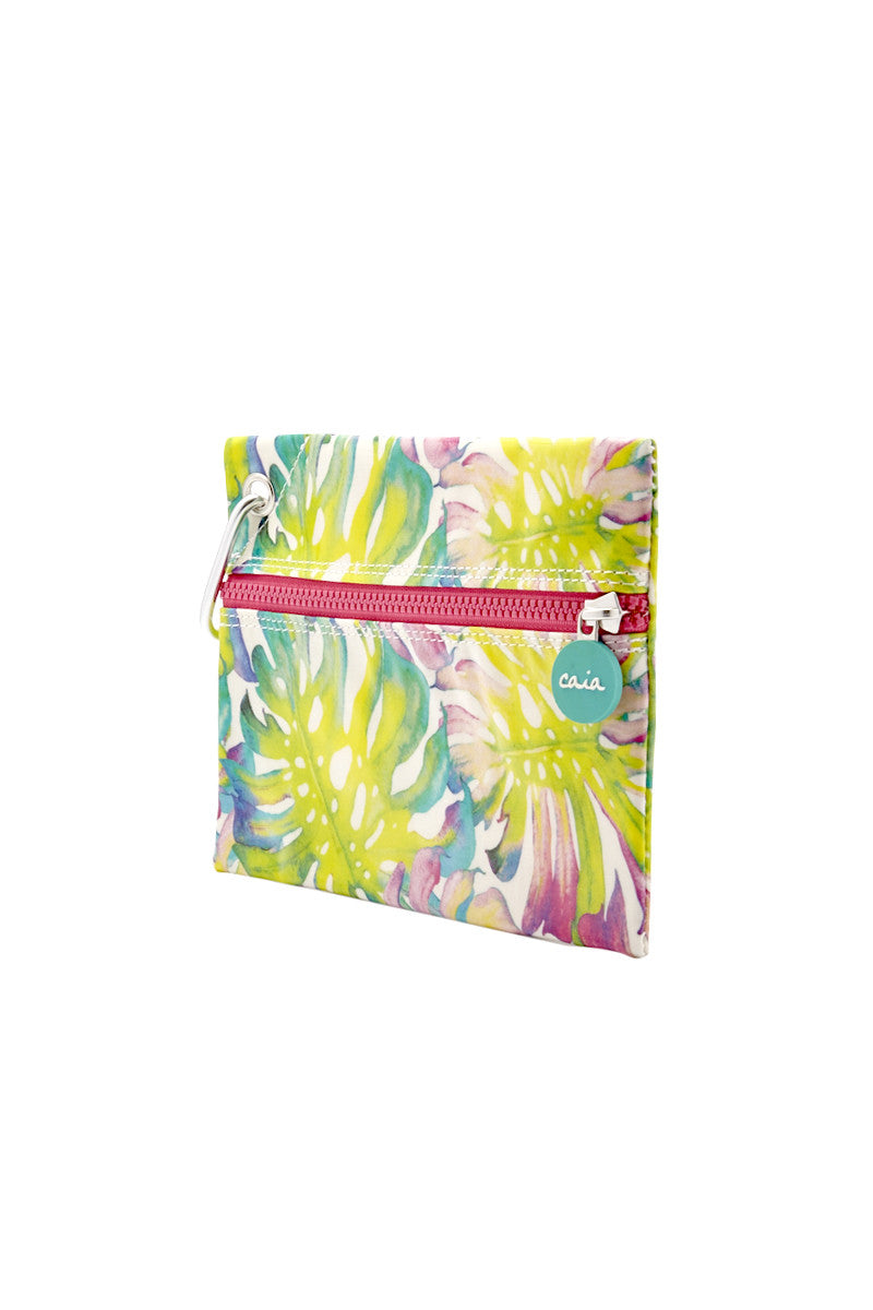 CAIA BEACH PILLOWS Fiji Clutch Bag | lime print