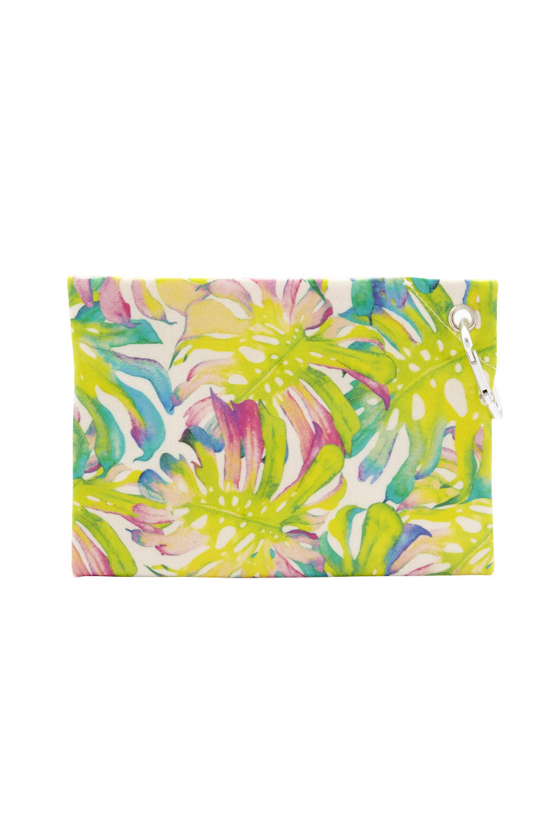 CAIA BEACH PILLOWS Fiji Waterproof Clutch - Lime Print Bag | lime printLime Print| Caia Beach Pillows Fiji Waterproof Clutch - Lime Print