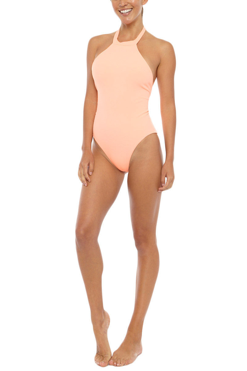 MGS Body Gloved One Piece - Hot Apricot Rib One Piece | Hot Apricot Rib| M.G.S Body Gloved One Piece