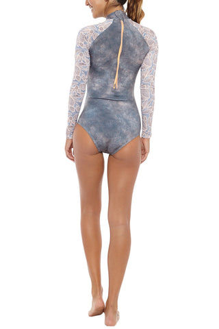 SEEA Gaviotas Long Sleeve Surf One Piece Swimsuit - Nopal Print One Piece | Nopal| Seea Gaviotas Surf Suit