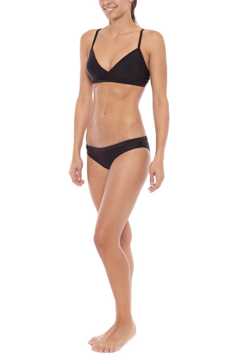 KHONGBOON Mali Reversible Bikini Bottom Bikini Bottom | Black/White| Khongboon Mali Reversible Bikini Bottom
