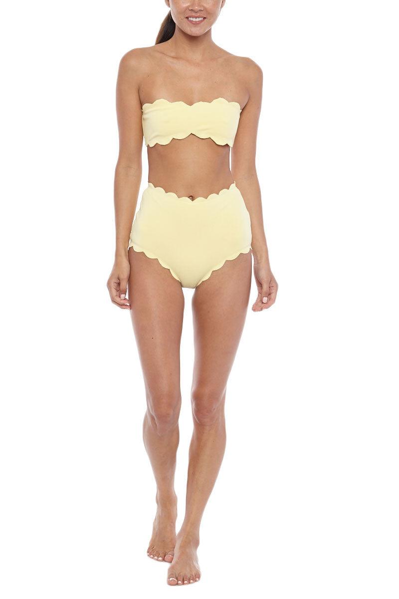 MARYSIA Santa Monica Bandeau Bikini Top - Sunlight Yellow Bikini Top   Sunlight Yellow Marysia Santa Monica Bikini Top