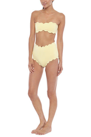 MARYSIA Santa Monica High-Waisted Bikini Bottom - Sunlight Yellow Bikini Bottom | Sunlight Yellow|Marysia Santa Monica Bikini Bottom