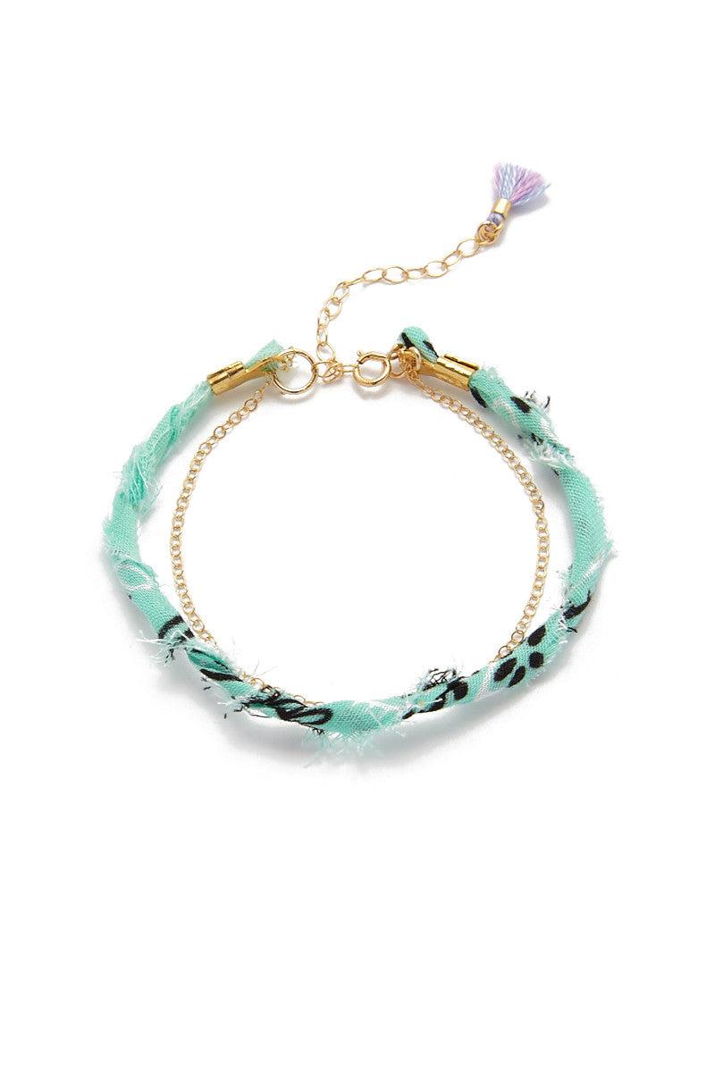 BLAINE BOWEN Bikini Exclusive Bandana Bracelet Jewelry | Blue Bandana| Blaine Bowen Bikini Exclusive Bandana Bracelet