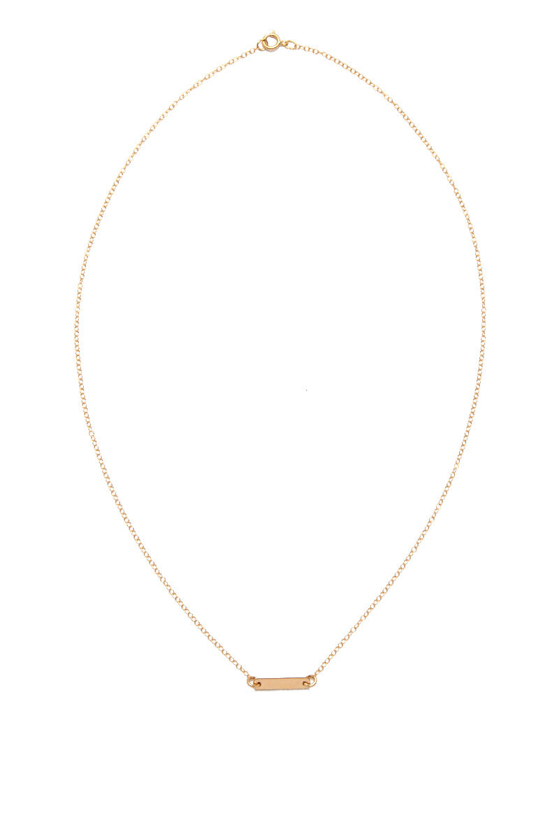 SIMONE JEANETTE Noura Bar Necklace - Gold Jewelry | Gold| Simone Jeanette Noura Bar Necklace - Gold