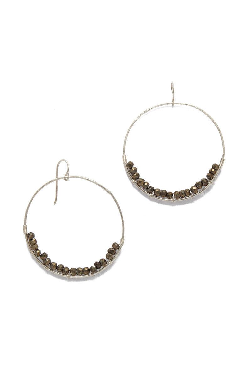 SIMONE JEANETTE Adrianna Hoop Earrings - Silver Jewelry   Silver  Simone Jeanette Adrianna Hoop Earrings -- Silver