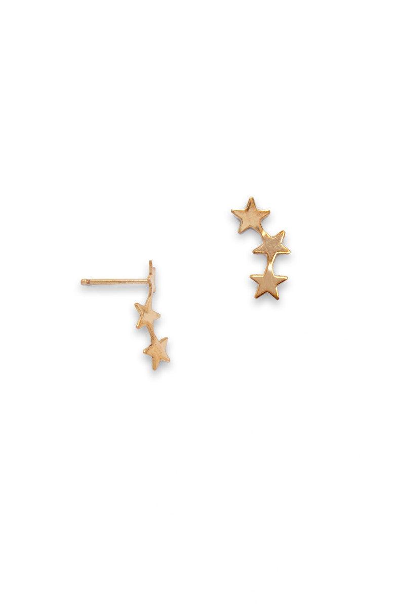 SIMONE JEANETTE Stera Ear Climbers Jewelry | Gold| Simone Jeanette Stera Ear Climbers