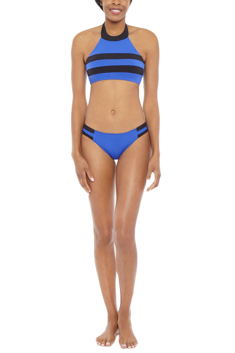 SEAFOLLY Block Party High Neck Top Bikini Top   Blue Ray  Seafolly Block Party High Neck Bikini Top