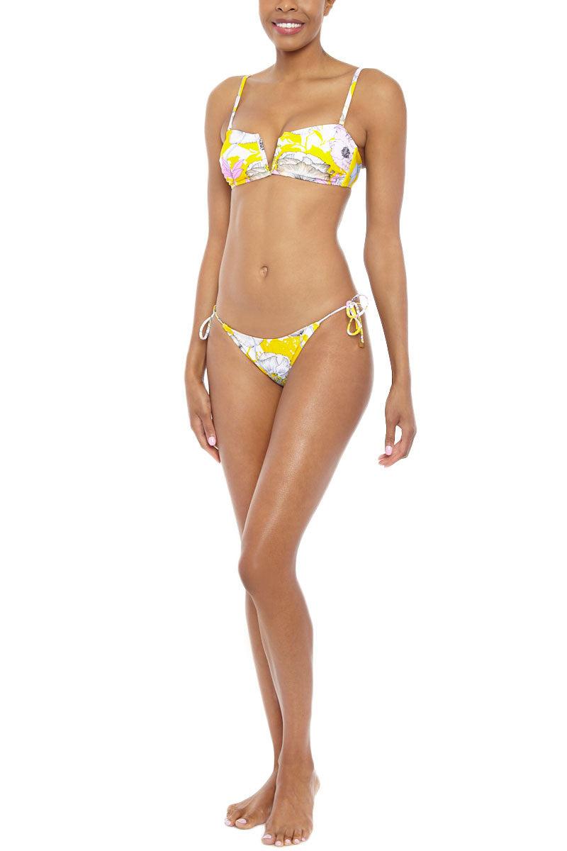 YUMI KIM Deep Sea Bandeau Top Bikini Top | Bora Bora Yellow| Yumi Kim Deep Sea Bandeau Top