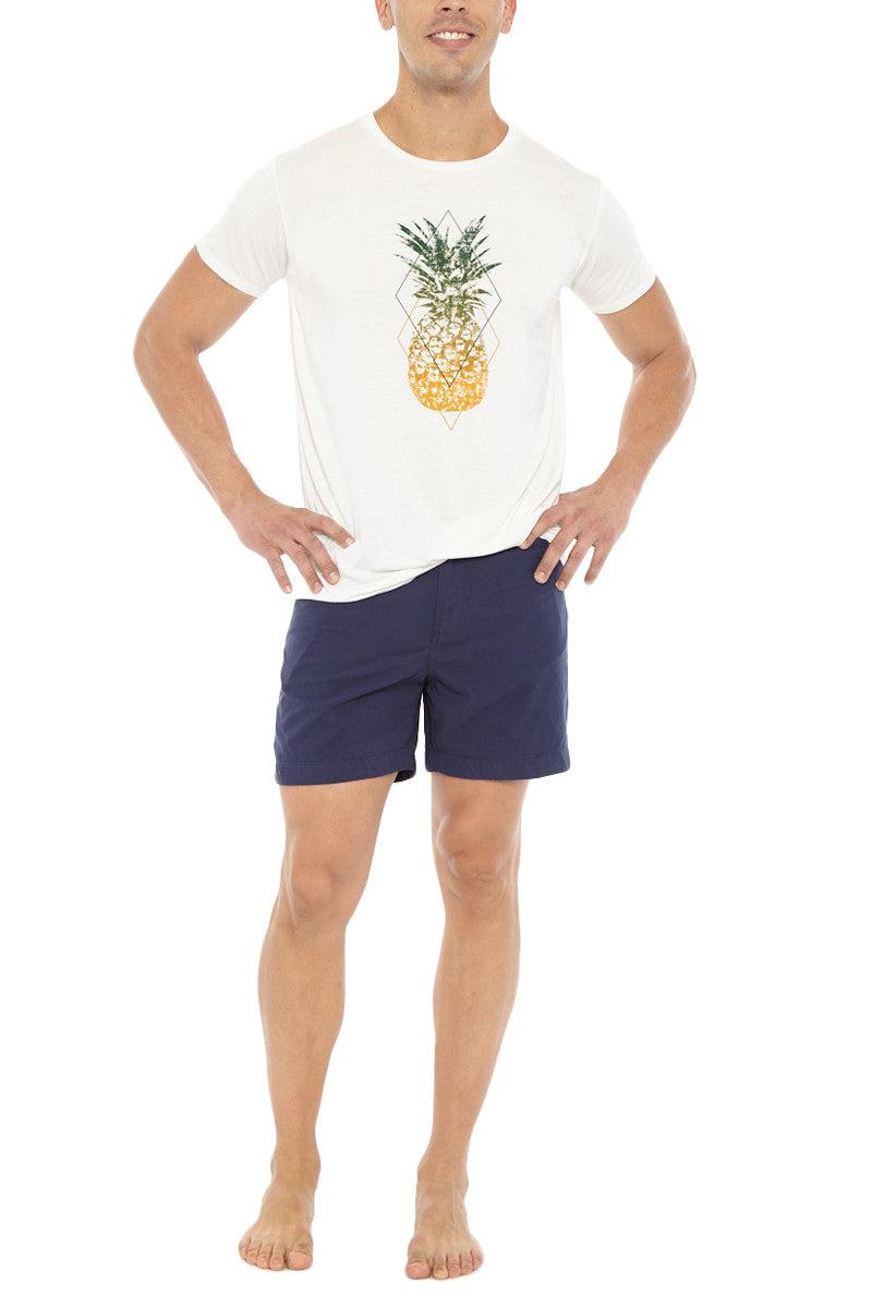 Bikini.com Pineapple T-Shirt (Men's) Mens Top   Pineapple  Bikini.com Pineapple T-Shirt (Men's).  Front View. 100% Bamboo. Ultra Soft. Pineapple pop art on center front.
