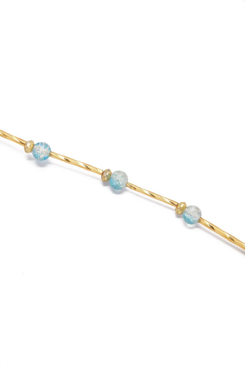TEGAA Ndey Waistbeads Jewelry | Aqua Cloud| Tegaa Ndey Waistbeads