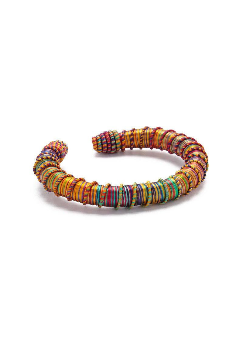 TEGAA Rohey Silk Wrapped Cuff Jewelry | Multi| TEGAA Rohey Silk Wrapped Cuff