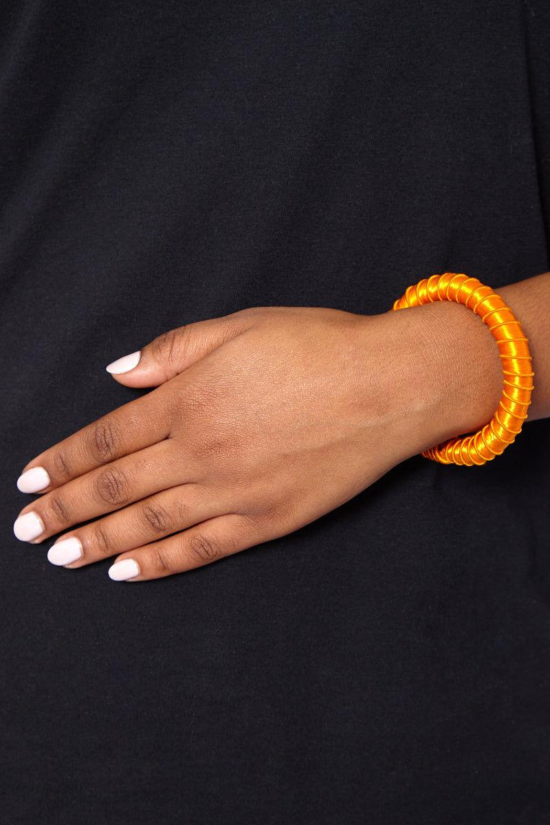 TEGAA Rohey Silk Wrapped Cuff Jewelry | Gold| TEGAA Rohey Silk Wrapped Cuff