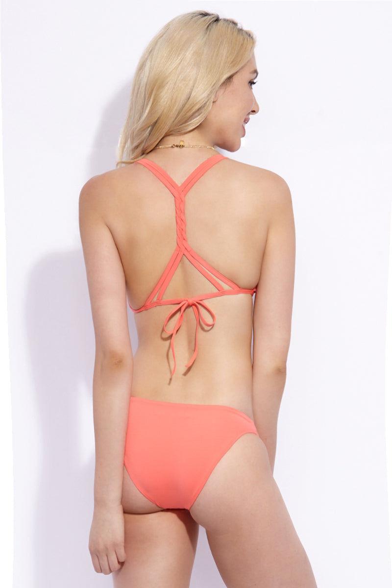 KACEY SHANA Montauk Top - Coral Bikini Top | Coral |Kacey Shana Montauk Top