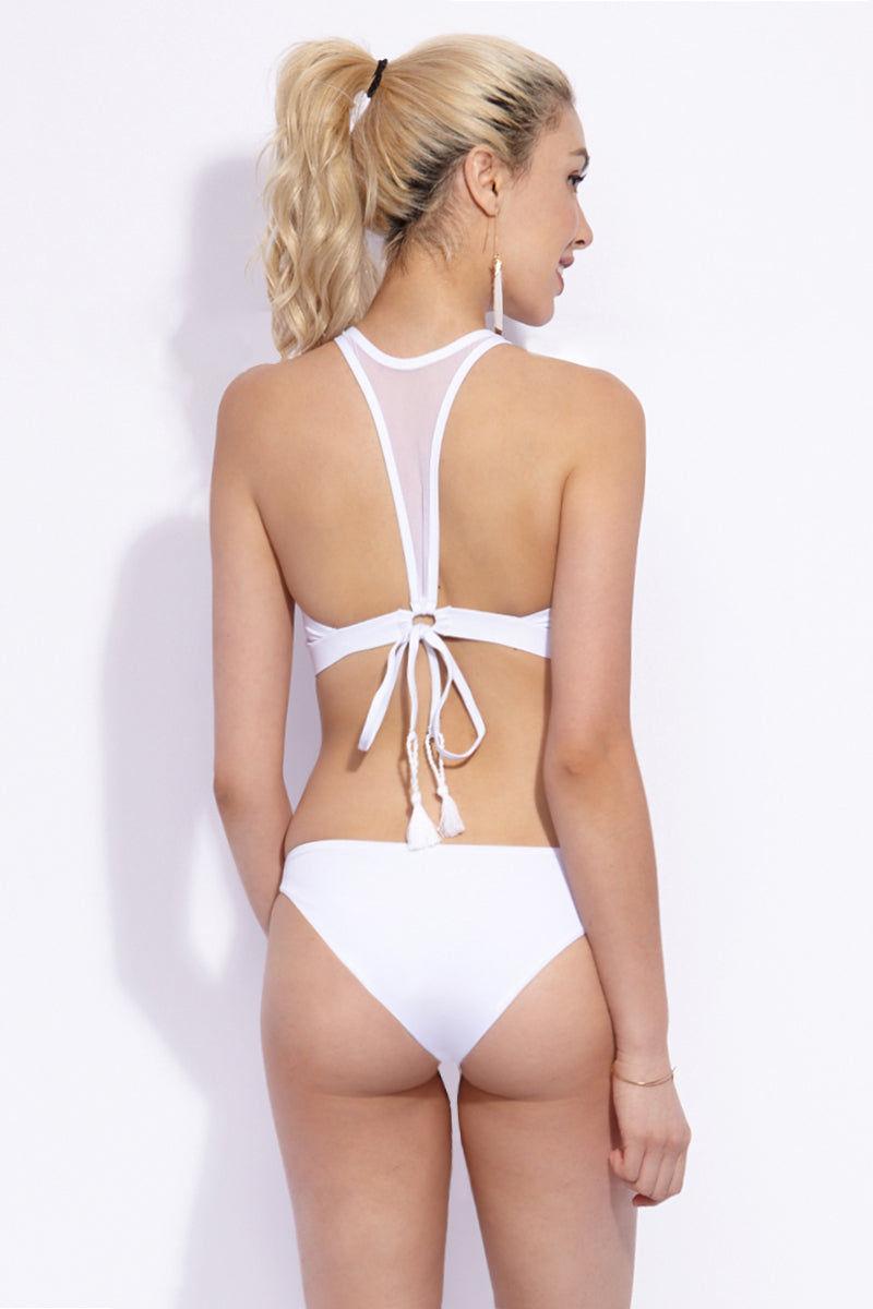 KACEY SHANA Capri Bottom Bikini Bottom | White| Kacey Shana Capri Bottom