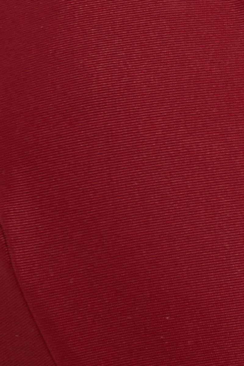 MIA MARCELLE Rachel Triangle Wrap Bikini Top - Chili Bikini Top | Chili| Mia Marcelle Red Rachel Triangle Wrap Top Chili Swatch Close Up Triangle Top  Convertible Wrap Around Tie  Thin Ribbon-like Straps  Halter Neck Tie  Ties at Center Back