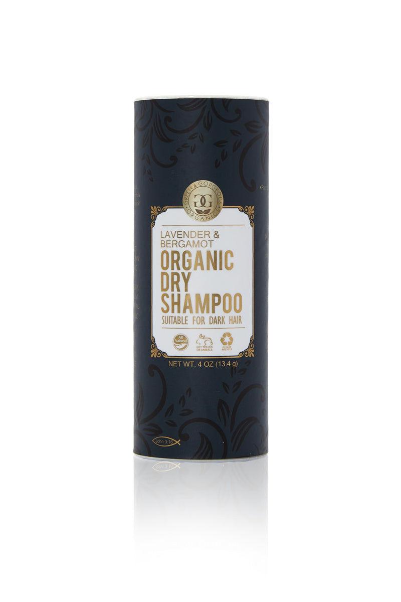 GREEN & GORGEOUS ORGANICS Organic Dry Shampoo for Dark Hair - Lavender & Bergamot Beauty   Organic Dry Shampoo Powder Lavender and Bergamot for Dark Hair
