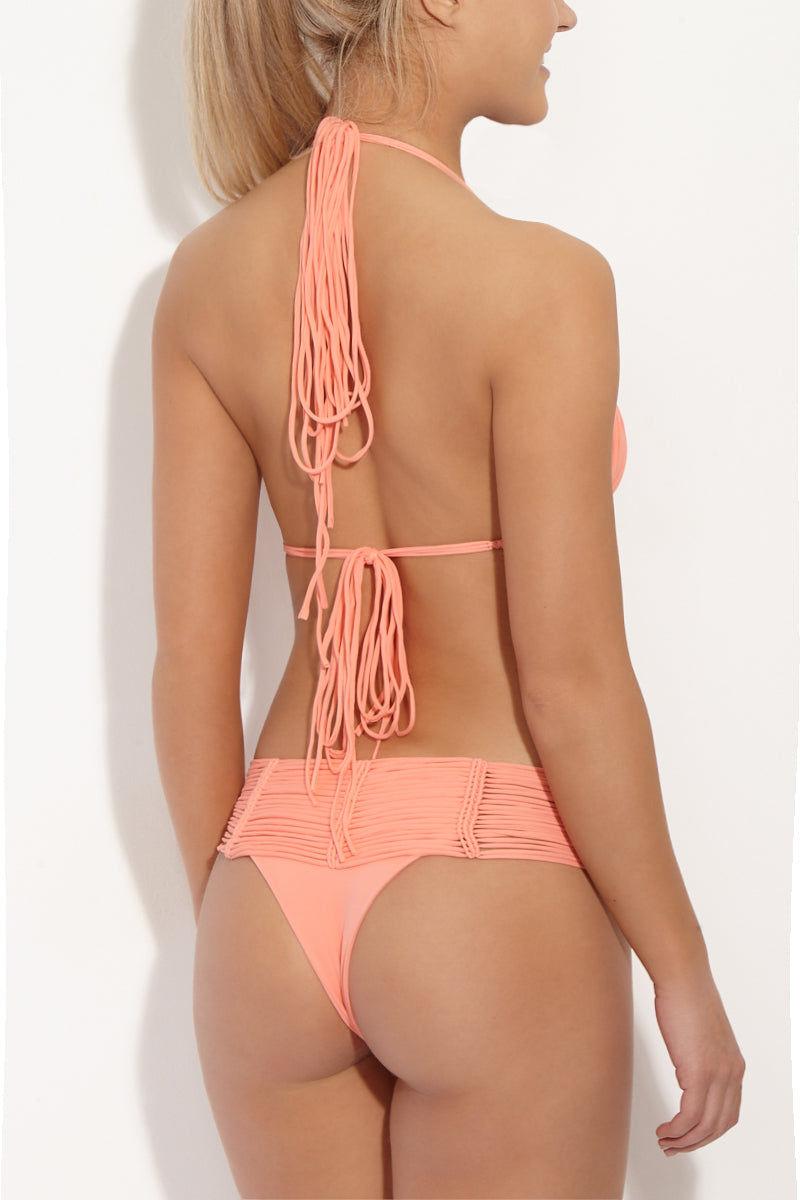 INDAH Andrea Macrame Top - Grapefruit Bikini Top | Grapefruit| Indah Andrea Macrame Bikin Top