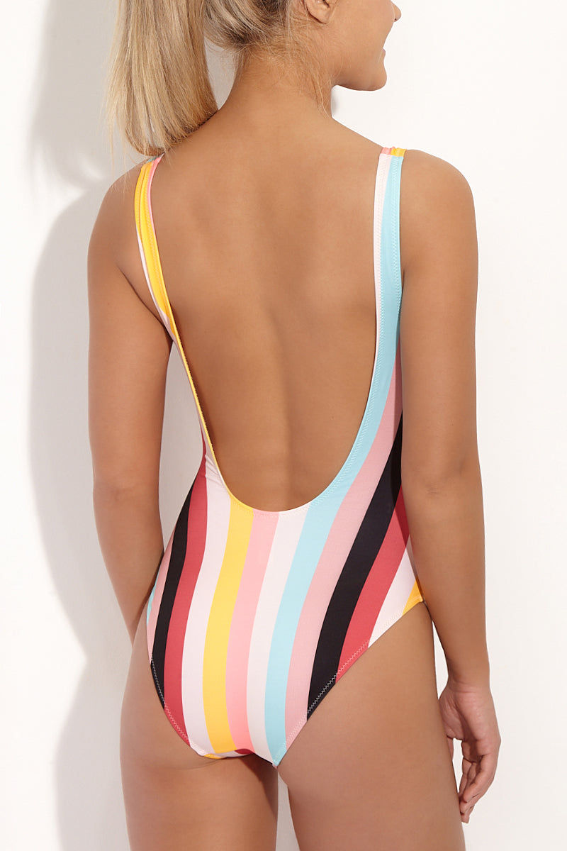 SOLID & STRIPED The Anne-Marie Classic One Piece Swimsuit - Multi Stripe One Piece | Spring Multi Stripe| Solid & Striped The Anne Marie One Piece