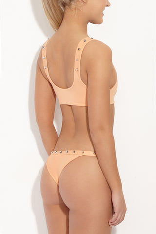 INDAH Cole Studded Bottom - Light Peach Bikini Bottom | Light Peach| Indah Cole Studded Bikini Bottom